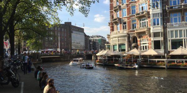 Amstel river & Hotel De L'Europe, Amsterdam
